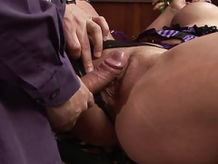 Wayne screws the blonde hard and furthermore shower her face with cum