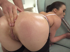 Tiffany Doll gets her asshole fingered and fucked hard