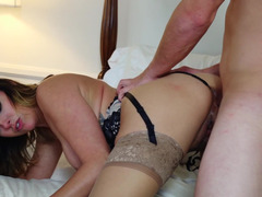 Cheating wife Danica Dillon satisfied by younger dick