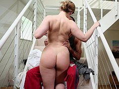 Big-breasted housewife having an intercourse her husband