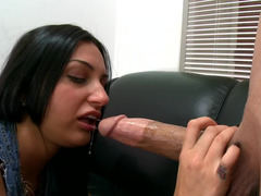 New girl is making her debut before us and she eats some cum