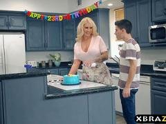 Mom gangbanged and DP fucked at this birthday party