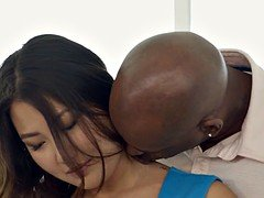 BLACKED Asian Babe Jade Luv Screams on Massive Black Cock