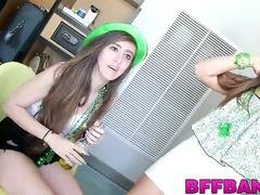 Drunk sluts get their pussies drilled on St Patricks Day