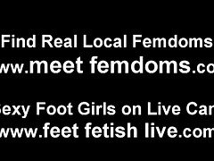 A night of lesbian foot fetish fun