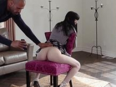 Asiatic hoe schoolgirl gets pinioned up and abused by an well endowed stud