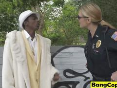 Black Pimp Gets Lured Into Sex With Slutty White Cops Maggie Green And Joslyn