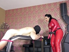 latex dominatrix fuck servant
