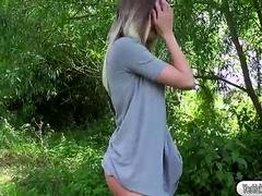 Busty babe Tamara Grace gets fucked in the woods
