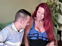 Busty Redhead Milf On A 18yr Old Guy