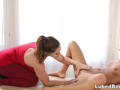 Jill Kassidy enjoys nasty massage with Edyn Blair
