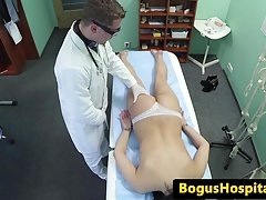 Real euro amateur groped by doctor