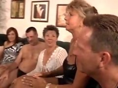 Granny Private Party  Milf Group orgy