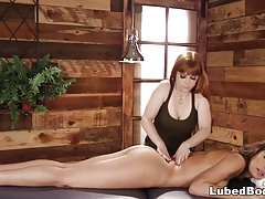 Carmen Caliente got some new massage tricks from Penny Pax