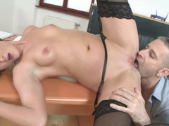 A hot thing that loves licking cock is getting anal penetration