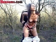 Webcam Couple Fucking In The Woods