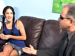 Lina Paige enjoys BBC terapie while her dad watch