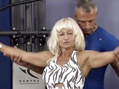 german muscle mom needs a strong love pole