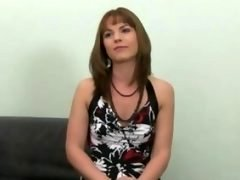 Shy beauty blowing off and plus getting down and dirty on sofa