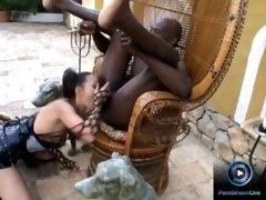 Petite Katsumi likes getting gagged especially with huge black cocks