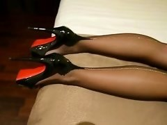 My FF nylons with silver backseem   high heels