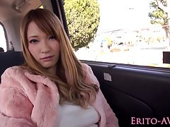 Japanese beauty banged and jizzed in a van