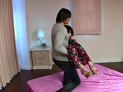 pretty asian ex girlfriend Megumi got Tied up and eyes cover
