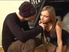 Russian teenage Katlyn gets DOUBLE PENETRATION