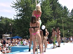strippers raw and naked in public in a stunning nude poppin festival indiana