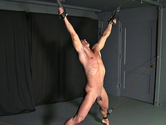 straight stud sucks big cock - stretched