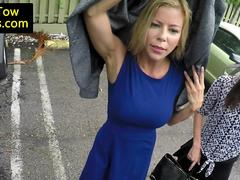 Stranded milf fucks truck driver for free tow