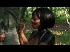 French African Tart's,Deepthroat and interviewed  in the park