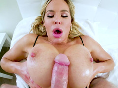 Fuck her big pornstar titties and her sexy wet mouth
