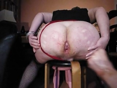 Huge Ass fist get down and additionally dirty and additionally pissed on by the Dominatrix