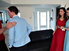 Daddy cocks fucks virgin prom pussies