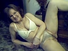 64 year old cute sexy granny with long hair
