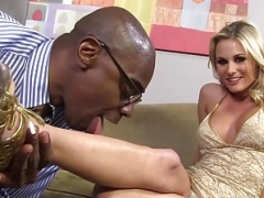 Laura Crystal Interracial Foot Fetish