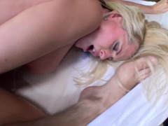Oiled Alena Croft fucked in her slutty booty outdoors