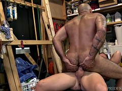 menover30 Dad muscle gives the employee hanged
