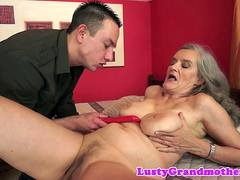 saggytit grandma fucked passionately mature