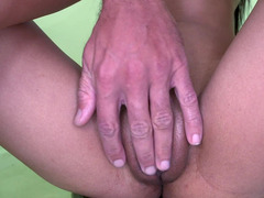 Petite babes tight pussy is getting stretched by a hard shaft