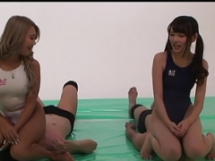 Japanese Female domination Double Pussy smothering