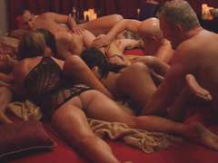 Horny swingers nasty game and massive orgy in Swinger house