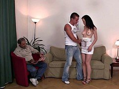 Young brunette wife swap for older man