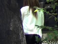 Pissing hairy pussy asian