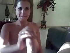 Busty Babe Blows And Strokes