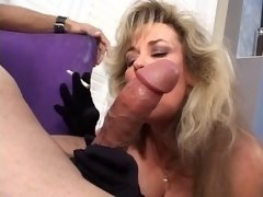 Milf hoe takes gives bj a guy off