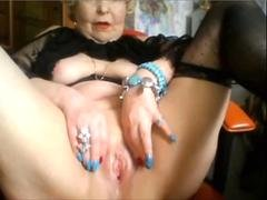 Blonde, Mamie, Masturbation, Mature, Webcam