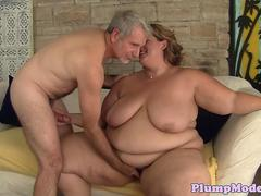 Fat BBW banged in missionary position