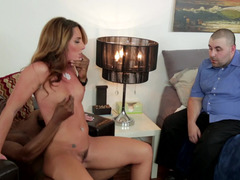 Black dude with a delicious cock fucks a skanky white darling